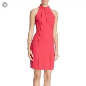 Elie Tahari Viola Crepe Studded Cocktail Dress